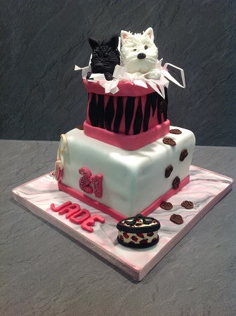 Giraffe Themed Birthday Cake Westie Dogs