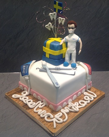 Dentists Leaving Party Cake